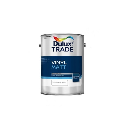 DULUX TRADE VINYL MATT PURE BRILLANT WHITE 5 L