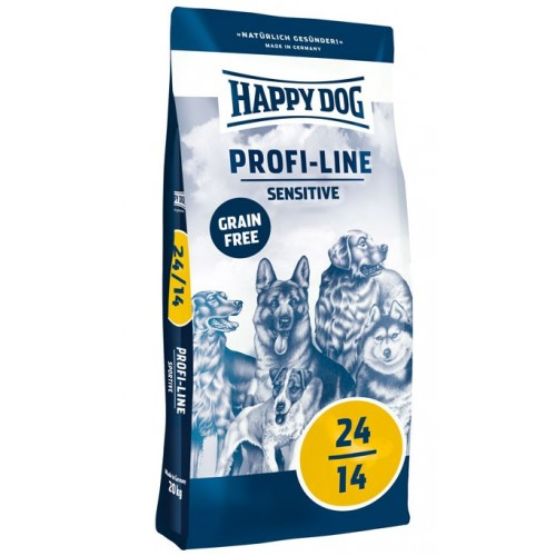 HAPPY DOG PROFI LINE 24-14 SENSITIVE GRAIN FREE 20 kg - DOPRAVA ZDARMA