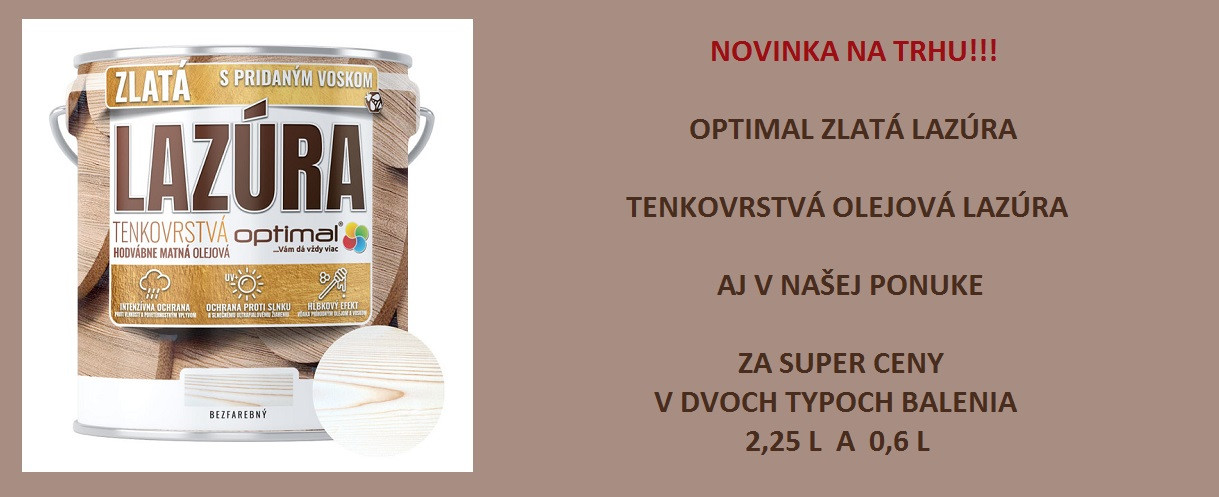 Optimal tenkovrstvá lazúra
